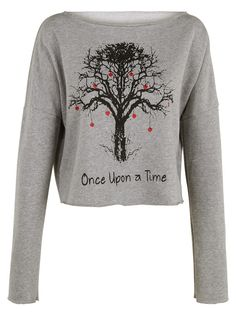 Once Upon a time tree print crop top shirt womens by TENNERLONDON
