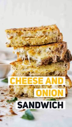 Cheese and Onion Sandwich that will blow your mind! You can call this bad boy your cheese and onion toastie, grilled cheese and onion sandwich or just yum! Sunday Recipes, Lunch Recipes, Vegetarian Recipes, Drink Recipes, Savoury Recipes, Sandwich Recipes, Vegan Vegetarian, Dinner Recipes, Making Grilled Cheese