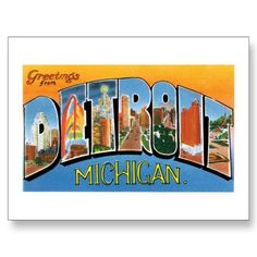 Postcard of Detroit Michigan