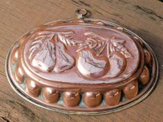 Antique French Copper Mold. Antique Copper Jelly Pan Mould. 1800's French Cuisine. Kitchenalia. Cookery. Jeanne D'arc Living. Apple and Pear