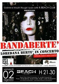 Eventi News 24: 2/8 Loredana Bertè in concerto al Beach Club Versilia