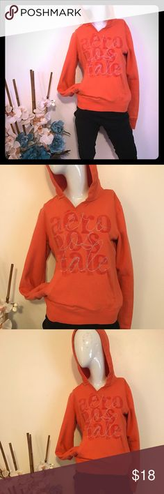 Aerospace sweat shirt orange Aerospace sweat shirt orange Aeropostale Tops Sweatshirts & Hoodies