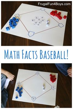 Math Facts Baseball – What a fun idea for practicing addition facts!