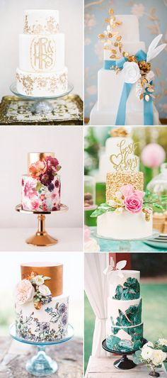 20 Most Beautiful Wedding Cakes For Your Romantic Artsy Wedding - Comtemporary