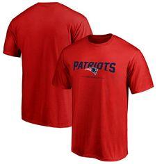 New England Patriots NFL Pro Line Team Lockup T-Shirt - Red