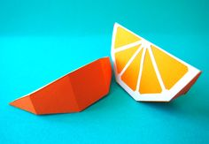 La salade de fruits - 2/4 - art paper - origami papier découpé - orange Paper Crafts For Kids, Diy Paper, Diy For Kids, Crafts To Make, Diy Crafts, Bunting Template, Paper Fruit, Fruit Crafts, Orange Craft