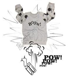 Big Boom Grey! Bluza dziecięca w dribs and drabs na DaWanda.com