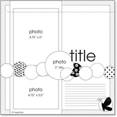 Scraps could be used for all the little circles!!! Notebook Sketches, Scrapbook Layout Sketches, Scrapbook Templates, Card Sketches, Scrapbook Paper Crafts, Scrapbooking Layouts, Scrapbook Designs, Disney Scrapbook, Baby Scrapbook
