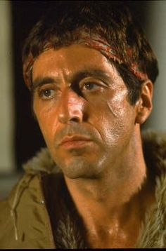 """Scarface says: """"Every day above ground is a good day."""" A great poster of Al Pacino who's brilliant in Brian De Palma's epic 1983 gangster film. Scarface Quotes, Scarface Poster, Scarface Movie, Al Pacino, Michelle Pfeiffer, Gangster Films, Good Day Quotes, Movie Posters, Posters"""