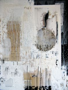 "ancagrayworks:    from memory. mixed media on canvas. 30""x40"".  anca gray.  2012"