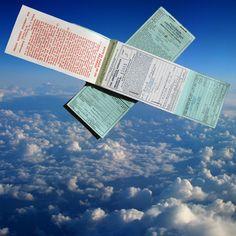 2 vintage wartime airplane tickets pan american flying ephemera old 1940s airways airline LA Mexico Los Angeles by artistjillian, $13.50 USD