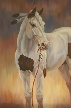 Horse painting by Kathleen Keil Hill