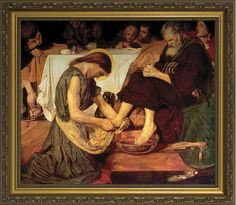 Christ Washing the Feet of the Apostles Framed Art