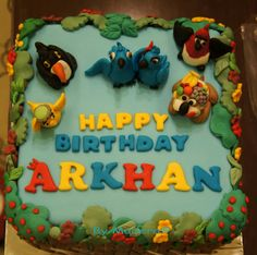 This cake was ordered by Anie, my friend, to celebrate her nephew b'day. Since Arkhan a big fan of movie RIO, therefore Anie requested t. Rio Birthday Cake, Rio Birthday Parties, Happy Birthday, Birthday Ideas, Rio Cake, Character Cakes, Cake Decorating, Rio 2, Diy Crafts