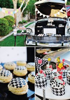 {Baby, Let's Cruise} Funky & Feminine Classic Car Party // Hostess with the Mostess® Car Themed Parties, Birthday Party Themes, Birthday Ideas, In Lieu Of Gifts, Old School Candy, Baby Boy Room Decor, Bird Party, Baby Boy Birthday, Baby Boy Shower