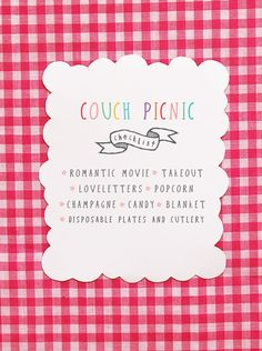 Take me on a couch picnic please.