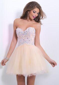 2014 Blush Sweetheart Neckline Homecoming Dress 9875