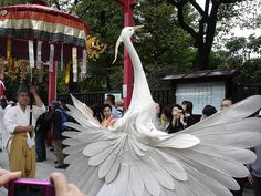 Sagimai Crane dance at Sensoji Temple, Asakusa, Tokyo crane costume