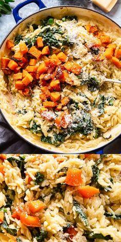 Side Dish Recipes, Veggie Recipes, Dinner Recipes, Cooking Recipes, Healthy Recipes, Orzo Recipes, Delicious Pasta Recipes, Veggie Dinner, Veggie Pasta