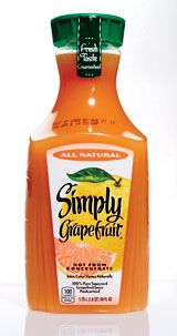 125 of the Best Foods to buy next time you go to the grocery store  (2010) - Best Fruit Juice - Simply Grapefruit Juice