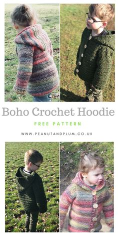Crochet Hoodies Crochet Boho festival hoodie - - Unisex crochet hoodie pattern A stylish and warm unisex crochet Bohemian hooded jacket with beautiful, earthy tones and super-soft texture. Perfect for those chilly(more. Cardigan Au Crochet, Crochet Baby Sweaters, Crochet Hoodie, Crochet Baby Clothes, Crochet Jacket, Crochet Hats, Crochet Toddler Sweater, Knit Sweaters, Crochet Dresses
