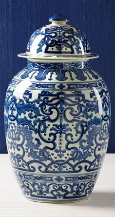 New Arrival From Jingdezhen China: Chinese Blue & White Porcelain Garden Trellis Temple Jar * 23 x 13 inches * Partner Table Lamps, Jars & Vases Available Blue And White China, Blue China, Porcelain Vase, White Porcelain, Porcelain Jewelry, Porcelain Doll, Cold Porcelain, White Vases, White Planters