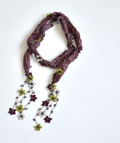 oya crochet scarf necklace