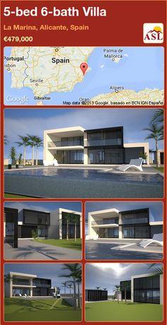 5-bed 6-bath Villa in La Marina, Alicante, Spain ►€479,000 #PropertyForSaleInSpain
