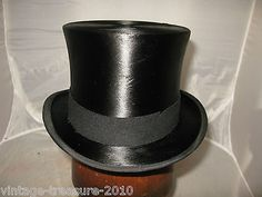 British antique #vintage #black silk top hat size 6 7/8 ascot #56cms scott & co,  View more on the LINK: http://www.zeppy.io/product/gb/2/152398889261/