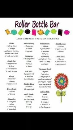Roll-On Bottle Recipes Roller Ball Aromaglide Blends Young Living Essential Oils www.youngliving.org/ambermoore: