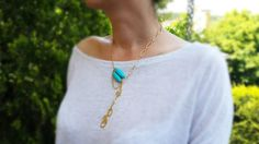 Mystic Turquoise Necklace  Gold and Turquoise by mysticdukkan