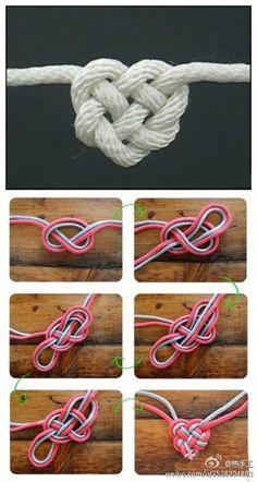 这个心形绳结叫凯尔特爱心结( Celtic Heart Knot ),真正的永结同心,是不是很浪漫