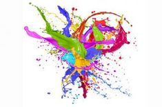 Splashes Of Colorful Pudding Paint