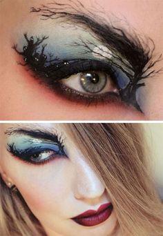 15 scary halloween zombie eye make up looks ideas for girls 2014 - Scary Halloween Eye Makeup