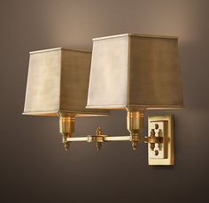 Claridge Double Sconce With Metal Shade RH $291 two for master bath