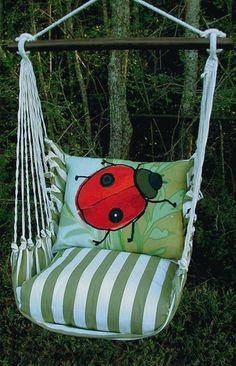 Summer Palms Ladybug Hammock Chair Swing Set only $149.99 at Garden Fun - Butterfly Hammock Chairs