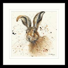 'Hugh' is a gorgeous hare framed print by popular artist, Bree Merryn for Artko. This striking image would make a great addition to any room in the house. The print sits within a white mount and bold black frame. Total item measurements are 53.5 x 53.5cm. £55.