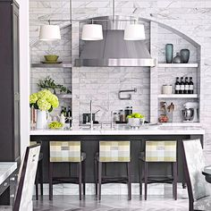 Stylish Tone-on-Tone Kitchen