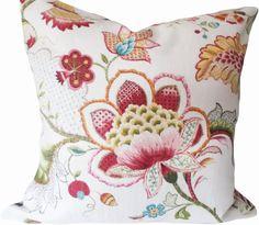 P Kaufmann Pink Floral Ophelia Decorative Pillow Cover Decorative Cushions, Decorative Pillow Covers, Throw Pillow Covers, Floral Pillows, Colorful Pillows, Pattern Design, Print Design, Modern Throw Pillows, Spring Home Decor