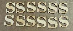 "Wood alphabet low cap""s"""