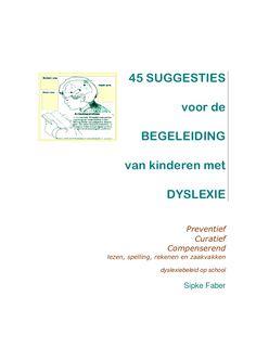45 tips voor hulp aan dyslectische kinderen