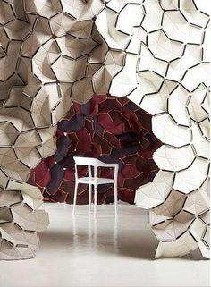 design français : Ronan and Erwan Bouroullec, cloison-sculpture, feutre, forme organique