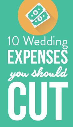 You don't have to have an unlimited wedding budget to throw your dream ceremony. Experts recommend trimming these 10 wedding expenses to save money. Wedding Expenses, Wedding Costs, Wedding Advice, Plan Your Wedding, Destination Wedding, Wedding Planning On A Budget, Budget Wedding, Wedding Planner, Elegant Wedding