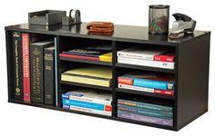 9 Compartment Organizer - Black contemporary-desk-accessories