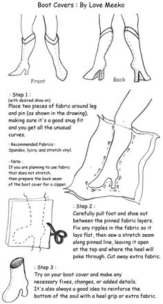 Cosmic Gemini Cosplay's Cosplay Tips! • Slip-On Boot Cover tutorial/pattern by Love Meeko....