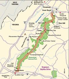 Virginia Scenic Drives: Skyline Drive. And other US scenic drives