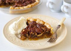 Buttery vanilla pecan pie with bourbon whipped cream