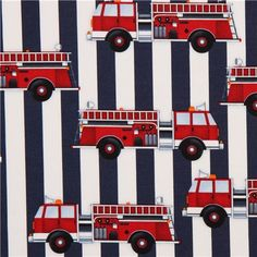 blue-white striped fire engine fabric by Robert Kaufman