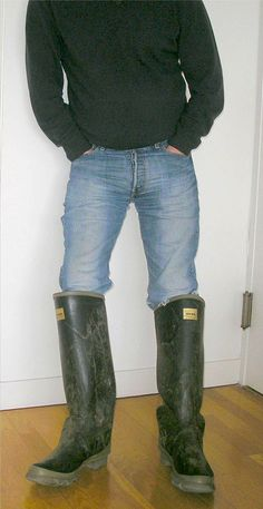 Wellington Boot, High Boots, Leather Men, Riding Boots, Real Man, Denim, Guys, Farmers, Countryside