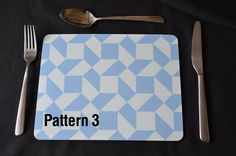 PLACEMAT SET. Abstract Print Medium Placemats. Set of Four. Stylish & DistinctiveOption to Include a Soft Green Backing 260X203 by MillHillSublimation on Etsy